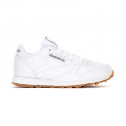 Tenis Reebok Classic Leather Blanco Para Niño