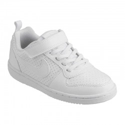 Tenis Blancos Nike Court Borough Low Para Niño