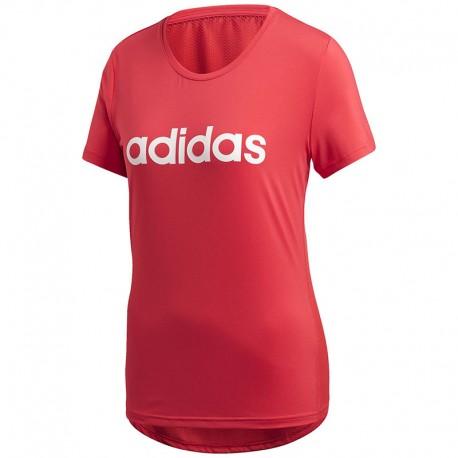 Camiseta Adidas Design 2 Move Logo Roja Mujer