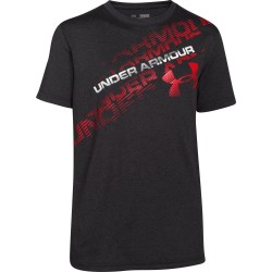 Camiseta Under Armour Niño Back Spin Negro