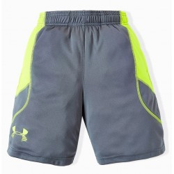Pantaloneta Under Armour Tech Niños Heat Gear Gris