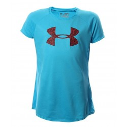 Blusa Under Armour Niña Big Logo Celeste