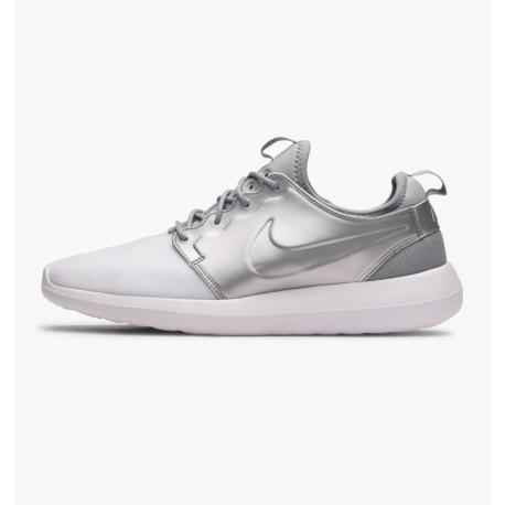 Tenis Nike Roshe Two Metallic Silver