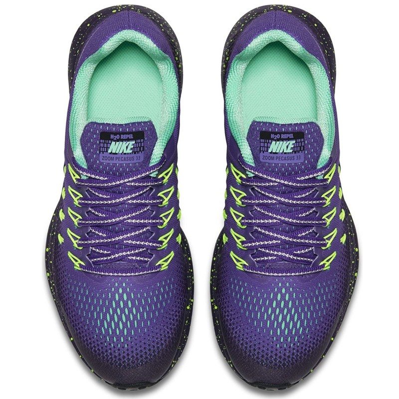 Equipo Fuera Tropical  Tenis Nike Girls Air Zoom Pegasus 33 Shield Morado