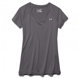 Blusa Under Armour Dama Cuello V Gris