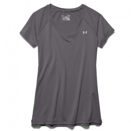 555355c6c80 ... Under Armour Dama Cuello V Gris. Blusa UA Dama Heat Gear