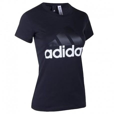 Camiseta adidas Ess Li Sli Tee Negra Para Dama