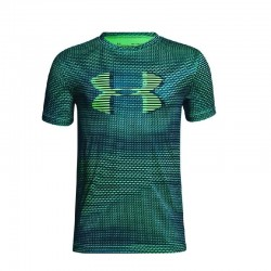 Camiseta Under Armour Niño Print Heat Gear Verde