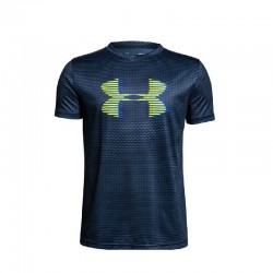 Camiseta Under Armour Niño Print Heat Gear Azul