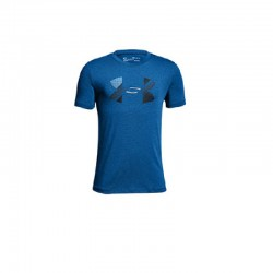 Camiseta Under Armour Niño Big Logo Heat Gear Azul