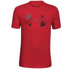 Camiseta Under Armour Niño Big Logo Heat Gear Roja