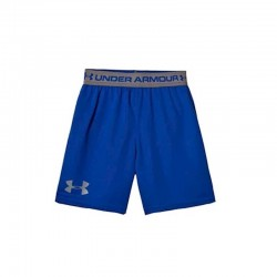 Pantaloneta Under Armour Tech Niños Heat Gear Azul