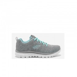 Tenis Skechers Dama Graceful Twisted Gris Claro
